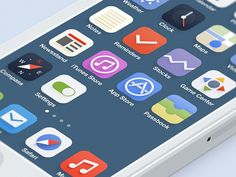 iOS 7 Redesign - even more icons found on Dribbble.