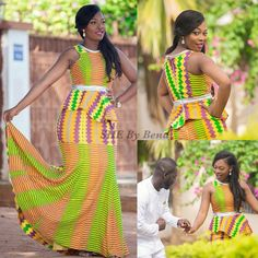 Hottest Kente Styles For Celebrities Image associée African Attire, African Wear, African Women, African Dress, African Style, African Inspired Clothing, African Print Fashion, African Fashion Dresses, African Outfits