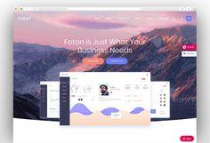 Foton - A Multi-concept Software and App Landing Theme Mobile Application, Wordpress Theme, Landing, Software, Concept, Templates, Stencils, Vorlage, Models