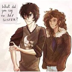 Nico and Hazel's sibling love is so awesome :)