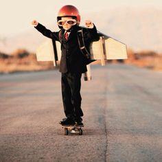 Nice outfit!  #rocket #kid #skateboard