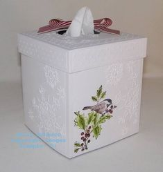 Tissue Box Covers! by Technique_Freak - Cards and Paper Crafts at Splitcoaststampers