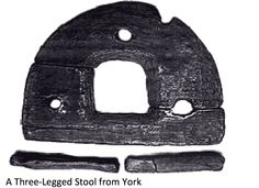 Viking stool from York. What is the hole in the middle for?