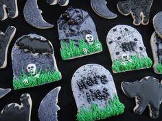 halloween tombstone cookie - Google Search