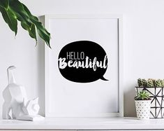 Typographic home decor prints. by osotweedesigns on Etsy Hello Beautiful, Etsy Seller, Etsy Shop, Creative, Prints, Home Decor, Decoration Home, Room Decor, Home Interior Design