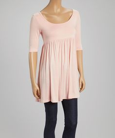 Look what I found on #zulily! Baby Pink Scoop Neck Tunic #zulilyfinds