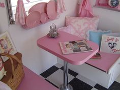 cute little pink camper