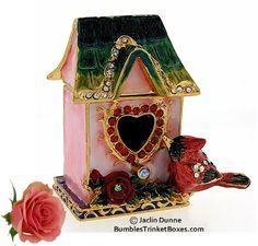 Cardinal Bird House Trinket Box