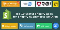Top 10 useful Shopify apps for Shopify eCommerce Solution #OffshoreSoftwareDevelopmentCompanyIndia #SoftwareCompanyInIndia #PHPCompanyInIndia