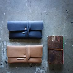 Dimensional Leather Pouch