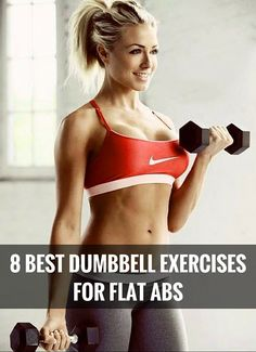 You work your abs harder with weights - to achieve a flat tummy even quicker.
