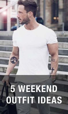 5 Insanely Easy Outfit Ideas for the Weekend | 5 weekend outfit ideas. #MensFashion