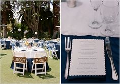 navy blue and white wedding ideas