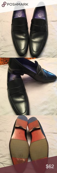 Ted Baker 'Fotiu' Black Leather Loafers Super stylish black Ted Baker loafers. Worn once. Original box included. Price reduced and is now firm, no offers. Ted Baker London Shoes Loafers & Slip-Ons