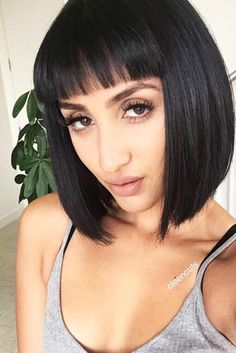 Stunning Ideas of Medium Length Hairstyles with Bangs ★ See more: http://lovehairstyles.com/medium-length-hairstyles-with-bangs/