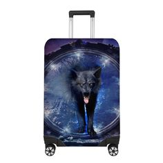 Awesome black wolf Luggage Cover Polyester Spandex Fabric, Luggage Cover, Selling Online, Fabric Material, Wolf, Dreams, Awesome, Summer, Stuff To Buy