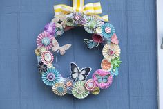 Spring Butterfly Wreath - Scrapbook.com