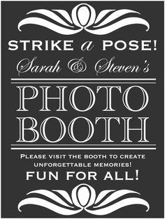 Custom #Wedding Photo Booth Sign by WeddingsByJamie