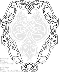 celtic dogs border tattoo by illahiedeviantartcom on deviantart could be
