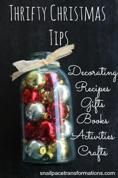 Thrifty Christmas Tips: Everything you need to have a low cost yet awesome Christmas this year.