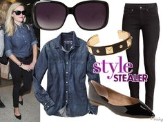 Style Stealer: Reese Witherspoon Makes Denim-On-Denim Totally Classic