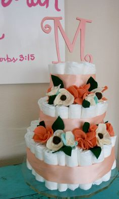 Diaper cake decorate