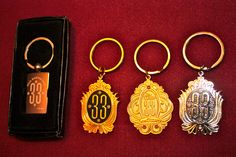 Disney Club 33 keychains, purchased at Club 33 and on ebay.