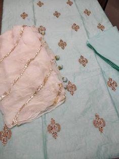 Embroidery Suits Punjabi, Hand Embroidery Dress, Embroidery Suits Design, Designer Party Wear Dresses, Kurti Designs Party Wear, Indian Salwar Kameez, Churidar, Pakistani Fashion Casual, Indian Designer Suits