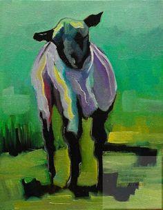 ARTOUTWEST DAILY PAINTING JANUARY 26 TOTALLY BAAAAD SHEEP -- Diane Whitehead