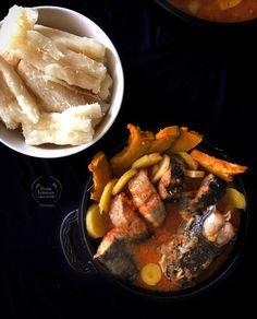 Pescado de río, arracachas, calabaza y papas Achiote, Carne Asada, Pot Roast, Cooking, Ethnic Recipes, Sauces, Pumpkins, Kitchen