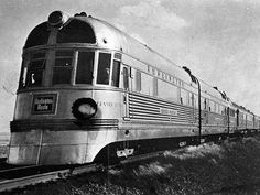 The streamlined Zephyr Locamotive