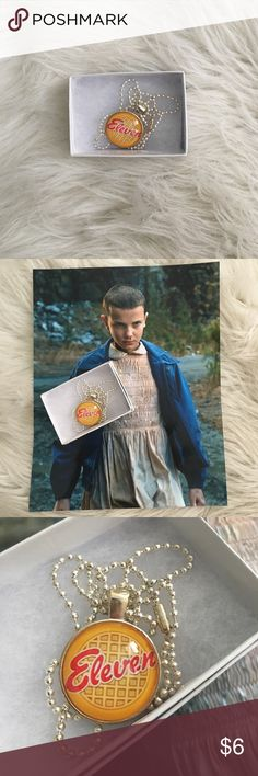 STRANGER THINGS NECKLACE COMES WITH FREE POSTER! STRANGER THINGS Eleven Waffle NECKLACE comes with FREE Millie Bobby Brown poster! Jewelry Necklaces