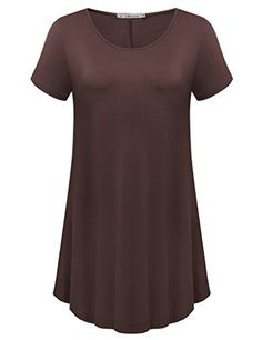 Special Offer: $8.27 amazon.com JollieLovin – stay jollie & lovely || Your fashion is our passion. – [JL Team] JollieLovin Women's Short Sleeve Loose Fit Flare Hem T Shirt Tunic Top is made with solid & breathable fabric that delivers high loose-fit comfort. It...