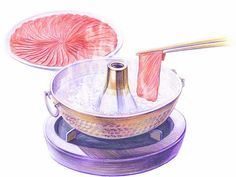 Colored Pencil Drawings of Japanese Cuisine (Vol.02)    - Japanese Hot Pot - Colored Pencil Drawings of Japanese Foods 12