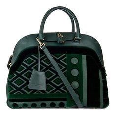 Burberry Prorsum's Milverton Velvet and Leather Bowling Bag