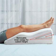 Footsmart Leg Elevator : Leg Cushions : Footsmart.com To minimize swelling in leg
