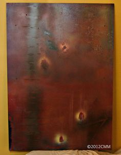 THE LADDER  Original Painted Textured Mixed by CMMorrisArtGallery, $350.00