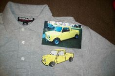 Mini pickup picture transferred to a shirt