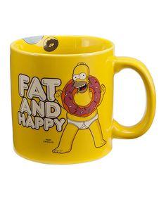 'Fat and Happy' Homer Simpson Mug