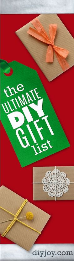 DIY Christmas Gifts  - Homemade Christmas Gift Ideas and Best Pinterest Lists for DIY Holiday Gift Ideas for Friends, Women, Men, Kids, Parents, Neighbors, Boyfriend and Girlfriend http://diyjoy.com/diy-christmas-gifts