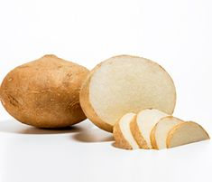 8 new superfoods you should be eating (pictured here-jicama-a belly-flattening fiber that acts as a prebiotic to promote helpful bacteria in the gutIt's also an excellent source of vitamin C, which may boost collagen and fight wrinkles.)