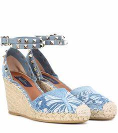 Rockstud platform wedge sandals   Valentino