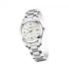 Longines lady's steel conquest automatic L2.285.4.76.6 #orjewellers #longines #conquest
