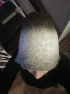 Fisherman's felted hat, the pattern is Novita's. Here it is knitted with vironvilla yarn and I left it without  the belt.