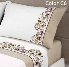 Draps Design, Sheet Curtains, Bed Cover Design, Designer Bed Sheets, Embroidered Bedding, Embroidered Flowers, Sewing Pillows, Bed Sheet Sets, Hand Embroidery Designs