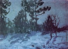 Winter Night 1910 Wood Print by Korovin Konstantin. All wood prints are professionally printed, packaged, and shipped within 3 - 4 business days and delivered ready-to-hang on your wall. Winter Night, Winter Art, Painting Gallery, Art Database, Oil Painting Reproductions, Winter Beauty, Winter Landscape, Paris, Great Artists