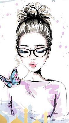 Girly Drawings, Cool Art Drawings, Arte Fashion, Cute Girl Drawing, Digital Art Girl, Beauty Art, Cute Illustration, Anime Art Girl, Cartoon Art