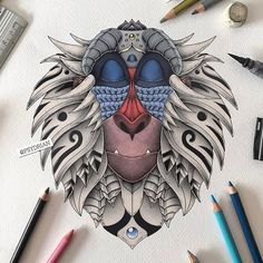 WEBSTA @ worldofartists - Love this Rafiki! Go follow @psydrian for more stunning artworks like this