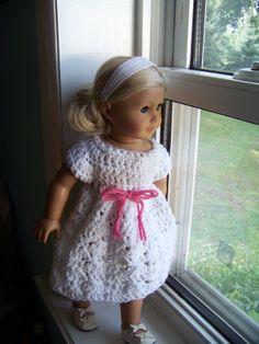 crochet doll dresses | Fat Cat Crochet Corner: Lacy Shell Doll Dress
