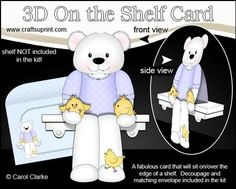 3D On the Shelf Card Kit Cute Austin Bear s Easter Chicks on Craftsuprint - View Now!